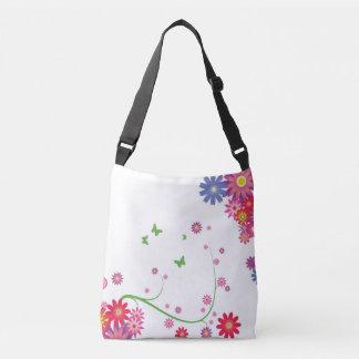 花いっぱいの十字の体のカジュアルな袋 クロスボディバッグ