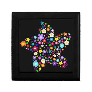花いっぱいの星のギフト用の箱 ギフトボックス