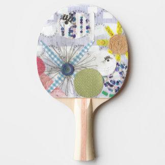 花いっぱいの魚の世界の卓球のこうもり 卓球ラケット
