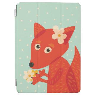 花およびかわいいキツネ iPad AIR カバー