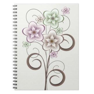 花およびカールのノート ノートブック