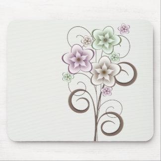 花およびカールのマウスパッド マウスパッド