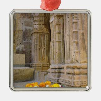 花およびコラムのJaisalmerの城砦、Jaisalmer、 メタルオーナメント