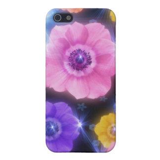 花およびスターバスト iPhone SE/5/5sケース