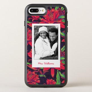 花およびハチドリは|あなたの写真を加えましたり及び示します オッターボックスシンメトリーiPhone 8 PLUS/7 PLUSケース