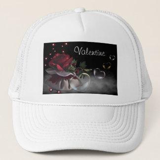 花およびハートの帽子 キャップ