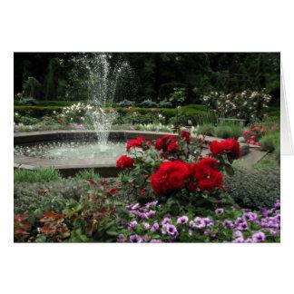 花および噴水 カード