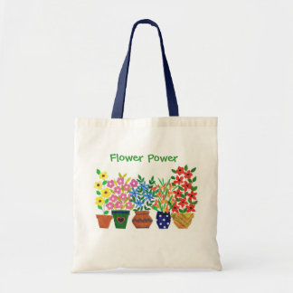花および文字のモダンなつぼ トートバッグ