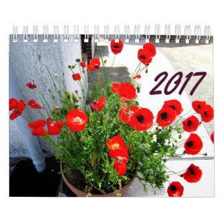 花および木のカレンダー2017年 カレンダー