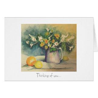 花および柑橘類の挨拶状 カード
