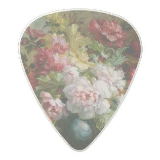 花および楽譜の静物画 アセタール ギターピック