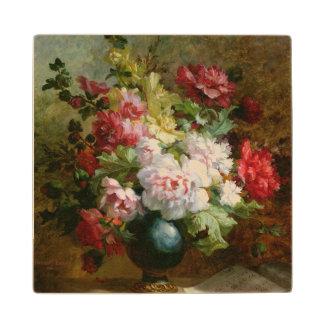 花および楽譜の静物画 ウッドコースター