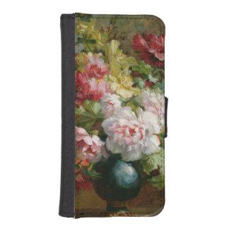 花および楽譜の静物画 iPhoneSE/5/5sウォレットケース