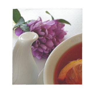 花および茶 ノートパッド