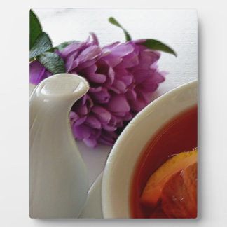 花および茶 フォトプラーク