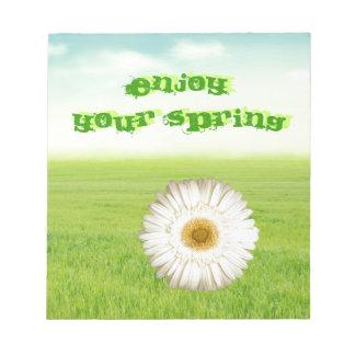 花および草 ノートパッド