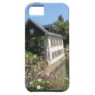 花および運河、フランスが付いている絵のような家 iPhone SE/5/5s ケース