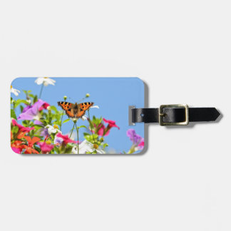 花および青空の蝶 ラゲッジタグ