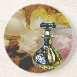 花および香水のコースターのばら色のマグノリア コースター