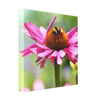 花および《昆虫》マルハナバチ キャンバスプリント