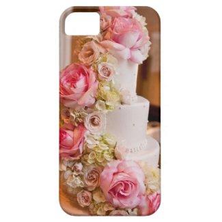 花が付いているウエディングケーキ iPhone 5 Case-Mate ケース