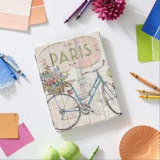 花が付いているパリのバイク iPadスマートカバー