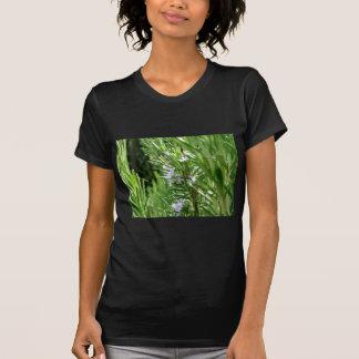 花が付いているローズマリーの植物 Tシャツ