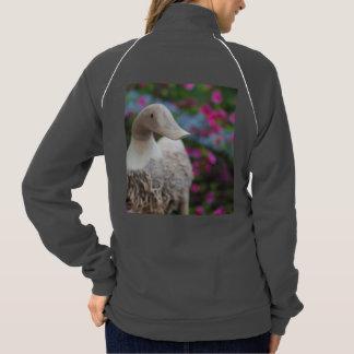 花が付いている木のアヒルの頭部 ジャケット