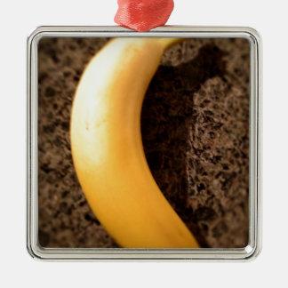 花こう岩の熟した黄色いバナナ メタルオーナメント