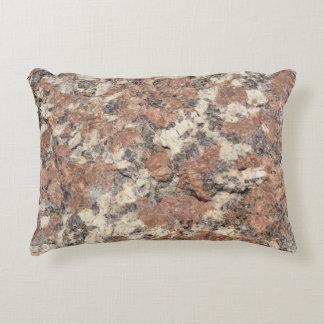 花こう岩の石の質 --- ピンクの黒い白 アクセントクッション