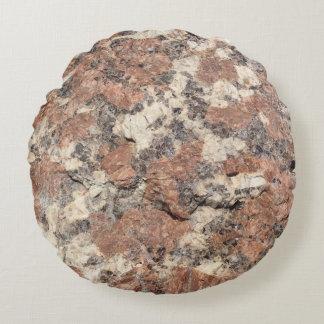 花こう岩の石の質 --- ピンクの黒い白 ラウンドクッション
