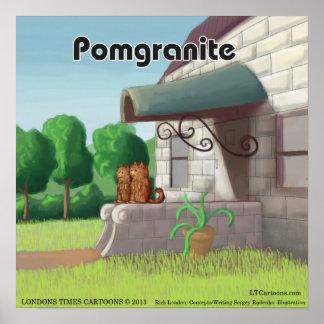 花こう岩(PomGranite)のおもしろいなポスターのポメラニア犬 ポスター