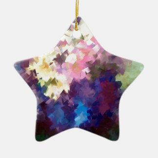 花つぼの静物画の抽象芸術の油絵 セラミックオーナメント