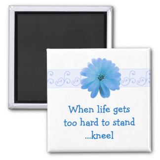 花との感動的な生命引用文 マグネット