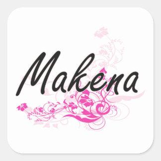 花とのMakenaの芸術的な一流のデザイン スクエアシール