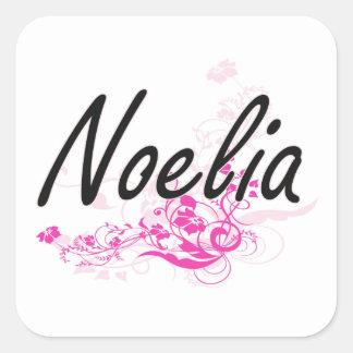 花とのNoeliaの芸術的な一流のデザイン スクエアシール