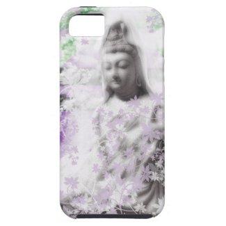 花と観音菩薩と伊勢神宮 iPhone 5 カバー