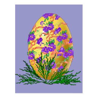 花によって飾られる卵 ポストカード
