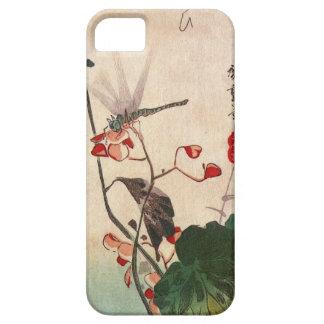 花にトンボ、広重のトンボおよび花、Hiroshige、Ukiyo-e iPhone SE/5/5s ケース