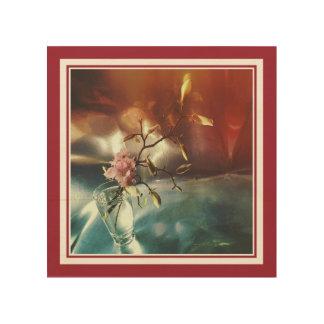 花のさくらんぼおよびマグノリア ウッドウォールアート