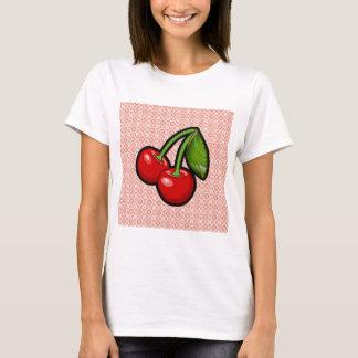 花のさくらんぼ Tシャツ