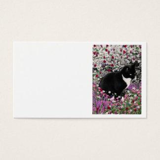 花のそばかすII -タキシードの子猫猫 名刺