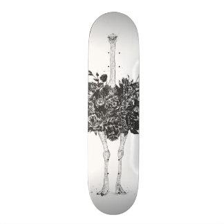 花のだちょう 19.7CM スケートボードデッキ