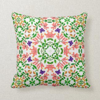 花のつる植物の枕の蝶 クッション