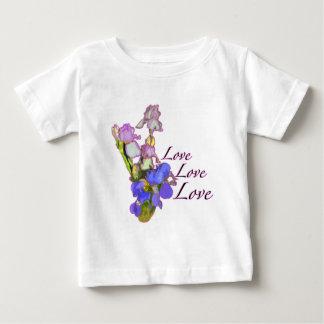 花のアイリス愛 ベビーTシャツ