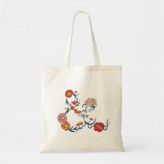 花のアンパーサンドのバッグ トートバッグ