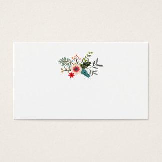 花のアンパーサンドの一致の護衛カード 名刺