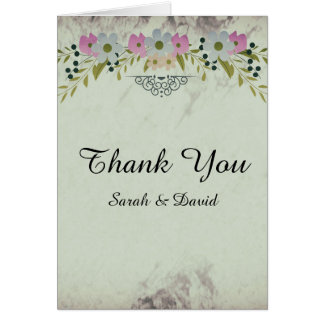 花のアーチの結婚式は感謝していしています カード