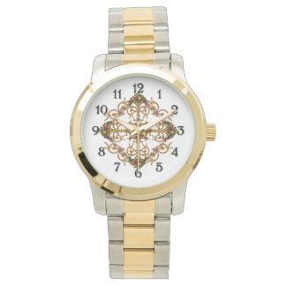 花のアールヌーボー 腕時計