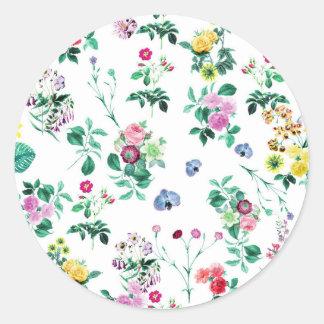 花のイメージのFash ラウンドシール